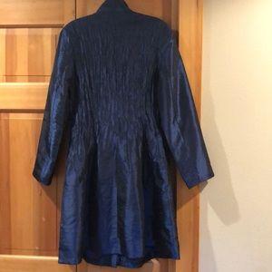 jerry t Dresses - Midnight blue Jerry T silky dress coat!